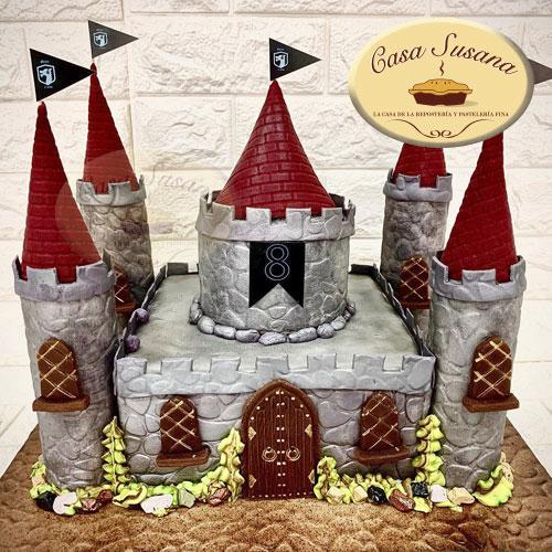 pastel castillo princesas