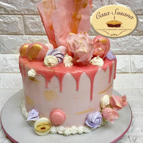 pastel dripcake rosa