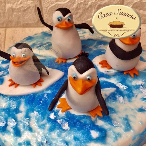 pastel pinguinos